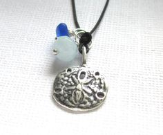Sterling Silver Sand Dollar Seaglass by GardenLeafSeaside on Etsy, $26.00