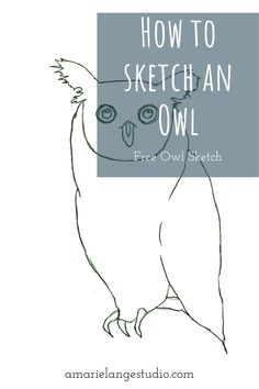 Pick up a watercolor pencil and paint along with me as I share my simple art method for creating this beautiful owl. Printables of both the line art sketch and the colored owl available. Whimsical Nursery, Whimsical Owl, Woodland Nursery Decor, Nursery Room Decor, Nursery Art, Watercolor Hand Lettering, Watercolor Pencil Art, Easy Watercolor, Owl Sketch