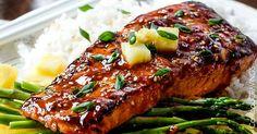 Pikantní barbeque losos s vůní zázvoru a chilli
