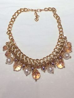 Gorgeous neutral necklace to glam up any outfit!  www.shopspoiledgirl.com