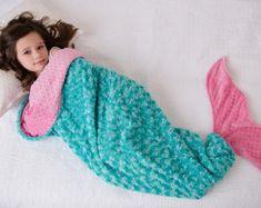 Mermaid Tail Mermaid Tail Blanket Minky by tarascozycreations
