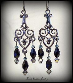 MISERY Gunmetal & Black Gothic Victorian by BloodFlowers on Etsy, $17.00