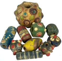 Sadigh Gallery's Ancient Phoenician Fused Glass Beads