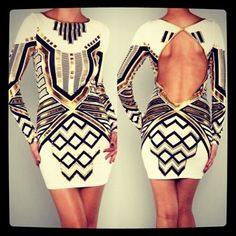 Tribal and backless.