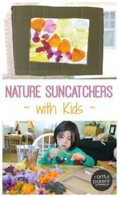 Making Nature Suncatchers with Cardboard Frames
