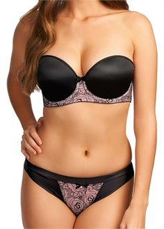 Freya Lingerie   Deco Darling Black Strapless Bra   AA1773   Available from a B - GG cup www.leialingerie.com