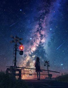 New wallpaper sky anime Ideas Anime Night, Sky Anime, Anime Galaxy, Galaxy Art, Galaxy Planets, Anime Scenery Wallpaper, Cute Wallpaper Backgrounds, Galaxy Wallpaper, Anime Artwork