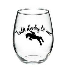 Horse Racing Wine Glass  Kentucky Derby Wine by DanniBeCollection