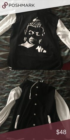 Varsity Jacket Buddha Brand new, never used, size small Jackets & Coats