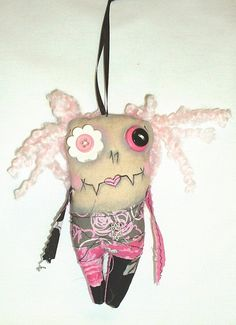 Mini Valentine Monster Zombie Doll by FromGramsHouse on Etsy, $10.00