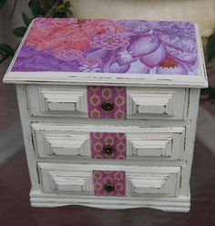 Handmade Jewelry Box  Shabby Chic  by EllieandBellevintage on Etsy, $55.00