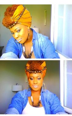 BeauTIFFul Curls strives to inspire & uplift women with natural hair by promoting beautiful. African Beauty, African Fashion, Bad Hair Day, My Hair, Head Wrap Scarf, Head Scarfs, African Head Wraps, Scarf Hairstyles, Look Chic