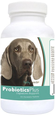 Healthy Breeds Probiotic Plus Digestive Support Chewables,  Weimaraner  / 60 Count * Read more reviews of the product by visiting the link on the image. (This is an affiliate link and I receive a commission for the sales)