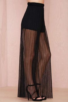 Nasty Gal Marie Sheer Pleated Pant - Clothes | All | Pants | Bottoms | Cyber Monday Bottoms |  | Pants