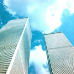 As magníficas Torres Gémeas em Nova Iorque em Agosto de 2001 apenas 1 mês antes de serem derrubadas. #worldtradecenter #torresgemeas #novaiorque #ferias #viagens