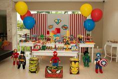 Festa super-heróis - João - Inesquecível Festa Infantil