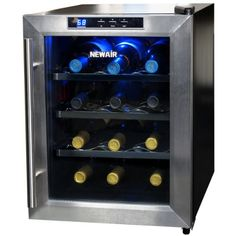 Holds up to 12 bottles of your favorite wine View larger Easily access your wine with convenient slide out racks View larger #NewAir AW-121E 12 Bottle Counterto...