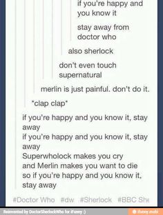 Yup and I'm in all of these fandoms. Just stay away if you don't like feeling like death