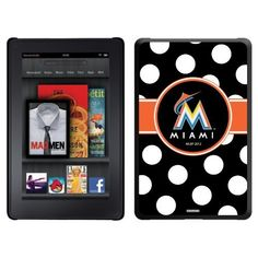 Miami Marlins - Polka Dots design on a Black Thinshield Case for Amazon Kindle Fire by Coveroo. $39.95. This hard shell polycarbonate case offers a slim fit form factor, while covering the back and sides of your Kindle Fire