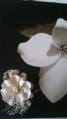 aplique comunion, arras flor seca de Errederosa complementos por DaWanda.com