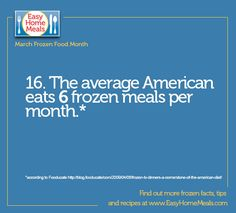 It's Day 16 of #MarchFrozenFoodMonth! How many frozen meals do you eat a month?
