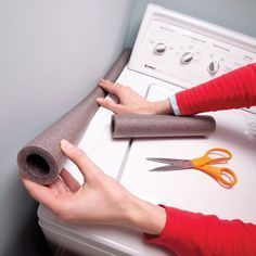 Stop Losing Socks Stuff a strip of foam pipe insulation into the space between your washer and dryer or along the wall. That way, socks can't slip into the abyss.