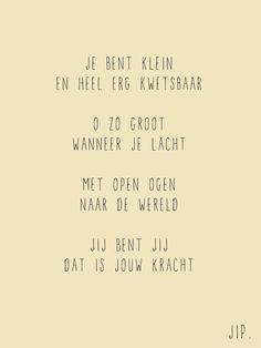 Tekstje voor geboorte- en babykaartje, gedichtje voor een kindje. Op kaart of prent  © Gewoon JIP.