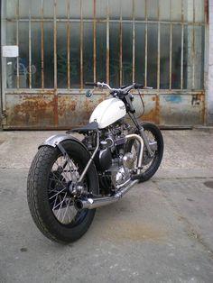 Old Triumph Bobber-style Bike