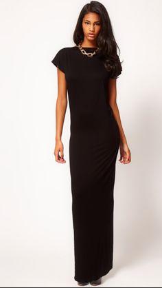 72fceb837a Black Women Dress Short Sleeve Slim Fit Turtle Neck Plunge Backless Sexy  High Back Slit Full Dress Floor Length Woman Dress - Dresses