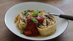 pancake nidi - or try it with pasta, for a more traditional take. like rotolo?