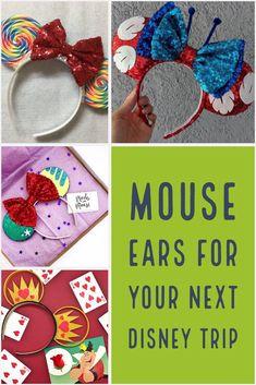 Mouse Ears For Your Next Disney Trip – Part 2 – Lizzie In Adventureland Diy Disney Ears, Disney Mouse Ears, Disney Diy, Disney Crafts, Mickey Ears, Disney Trips, Mickey Mouse, Disney Bows, Disney College