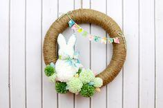 Ötletes Blog: Egyszerű húsvéti ajtódísz
