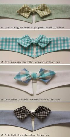 Pet's Fancy Shirt Collar with Bow-tie for Mid-size dogs, PU leashable collar included. $26.00, via Etsy.
