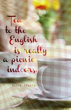 """To the English, tea is really a picnic indoors."" Lovely pic on @Fun and FlirTea's tea blog."