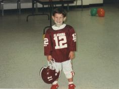 AJ McCarron dressed up as an Alabama football player when he was 3 years old, years before he knew he'd become the Crimson Tide's starting quarterback. (Photo courtesy of Dee Dee Bonner)