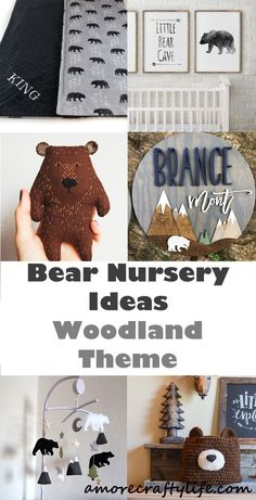 bear nursery ideas - animal nursery - woodland nursery - boy or girl nursery theme - amorecraftylife Baby Boy Nursery Themes, Bear Nursery, Baby Boy Nurseries, Nursery Ideas, Lucas Nursery, Babies Nursery, Themed Nursery, Safari Nursery, Nursery Prints