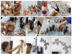 DIY Project: Toilet Paper Roll Wall Art ~ Goods Home Design