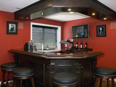 42 Stunning Home Bar Design Ideas For Your Sweet Home. If you like entertaining, think about installing a bar in your residence. If you're thinking of building a house bar (or renovating an exis. Small Basement Bars, Basement Bar Designs, Basement Ideas, Rustic Basement, Basement Decorating, Decorating Ideas, Decor Ideas, Basement Layout, Basement Inspiration