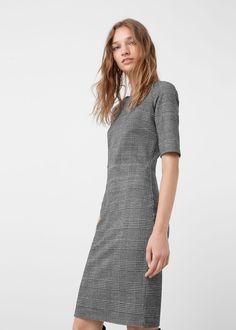 Flecked jersey dress - Dresses for Woman | MANGO Denmark