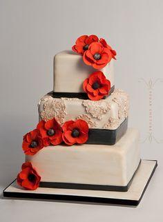coquelicot wedding cake
