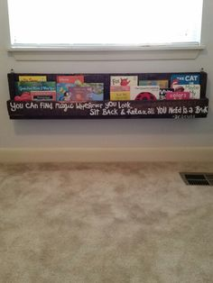 Book Shelf Made With Wood Pallet And Of Course A Dr Suess Quote :)