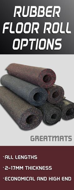 Greatmats offers rubber flooring rolls for any occasion and with one of the larges selections of sizes, thicknesses and color options.