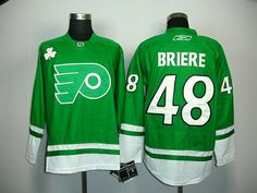 Philadelphia Flyers 48 Danny BRIERE St. Patty s Day Jersey. NHL Hockey  Jerseys 2895144cb