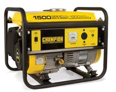 Champion Power Equipment 42436 portable generator is a cheap but very useful generator which gives you the power you need to run your very basic appliances or other tools in case of power outage or any other urgent situation. This generator is ideal for camping. Champion Power Equipment 42436 portable generator has a wattage peak on 1500 watts and it runs with a constant 1200 watts.