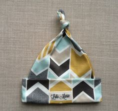 Organic Cotton Teal and Mustard Arrow Print by LolaMarieDesigns