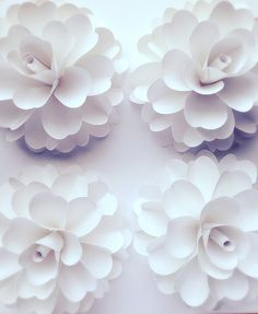 10 Large Paper Flowers by mkallasides on Etsy