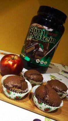 Proteines brownie-muffin almával   Peak girl Brownie, Rum, Muffin, Breakfast, Food, Morning Coffee, Essen, Muffins, Meals