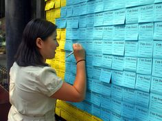 Post-it Notes for Neighbors is an interactive installation that helps demystify the topic by inviting people to anonymously share information