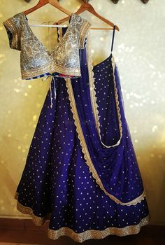 Light Lehengas - Blue Lehenga with Small Bootie Work with a Light Blue and Silver Embroidered Blouse | WedMeGood#wedmegood #indianbride #indianwedding #bridal #lightlehenga #engagementlehenga #sangeetlehenga #blue #silver Outfit By: Anjali Sharma- French Curve