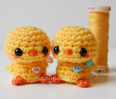 Kawaii Baby Chick - Yellow with Blue Bow